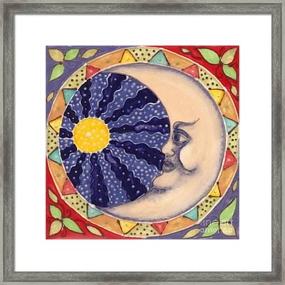 Ceramic Moon Framed Print by Anna Skaradzinska
