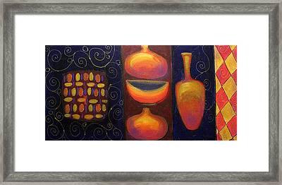 Ceramics Framed Print by Aliza Souleyeva-Alexander