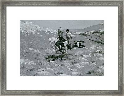 Ceremony Of The Fastest Horse Framed Print by Frederic Remington