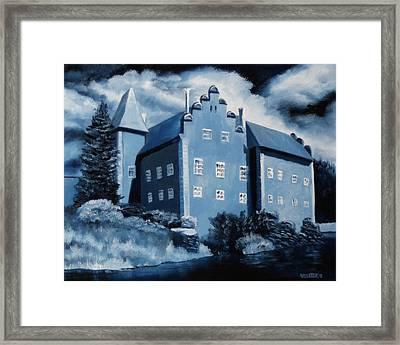 Cervena Lhota Castle  Czech Republic  Midnight Oil Series Framed Print by Mark Webster