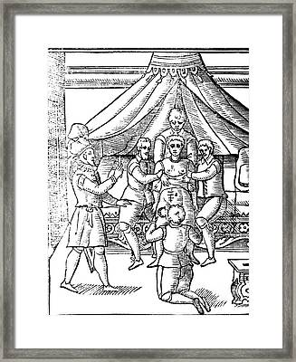 Cesarean Section, 17th Century Framed Print by Science Source