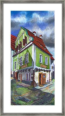 Cesky Krumlov Old Street 3 Framed Print by Yuriy  Shevchuk