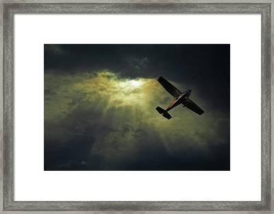 Cessna 172 Airplane Framed Print by photograph by Anastasiya Fursova