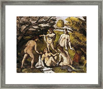 Cezanne: Five Bathers Framed Print by Granger