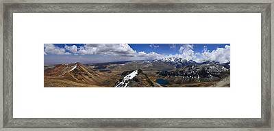 Chacatalya Pano Framed Print by Skip Hunt