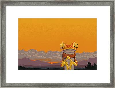 Chachi Tree Frog Framed Print by Jasper Oostland