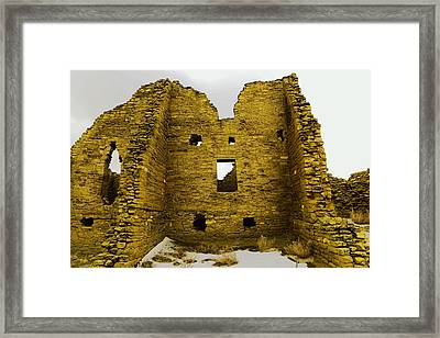 Chaco Canyon Ruins Framed Print by Jeff Swan