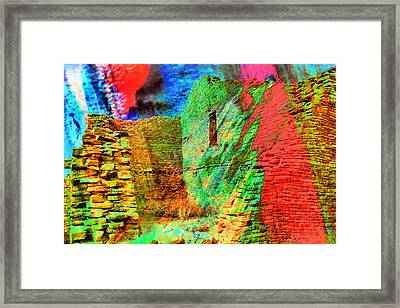 Chaco Culture Abstract Framed Print by Jeff Swan