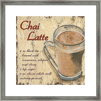 Chai Latte Framed Print by Debbie DeWitt
