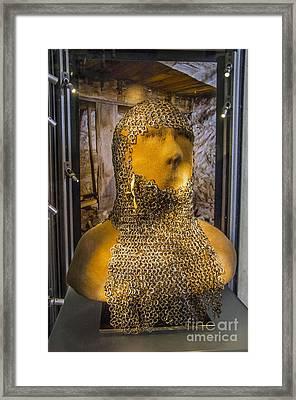 Chain Mail Coif Framed Print by Roberta Bragan