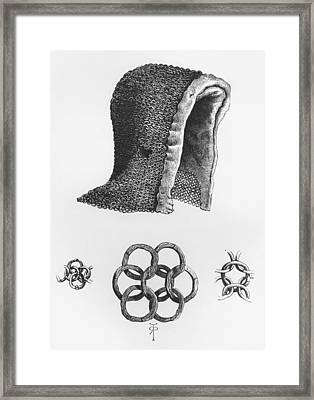 Chain Mail Hood And Example Of Framed Print by Vintage Design Pics
