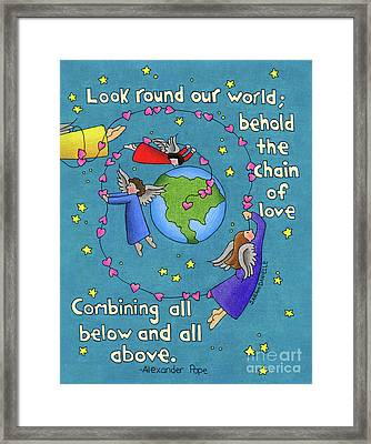 Chain Of Love Framed Print by Sarah Batalka