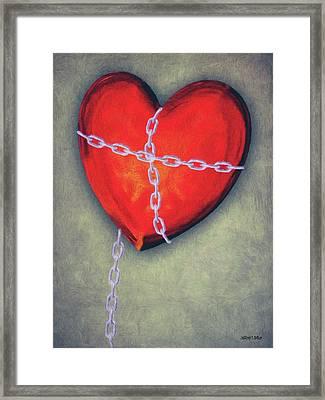 Chained Heart Framed Print by Jeff Kolker