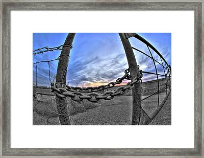 Chained Sky Framed Print by Tom Melo