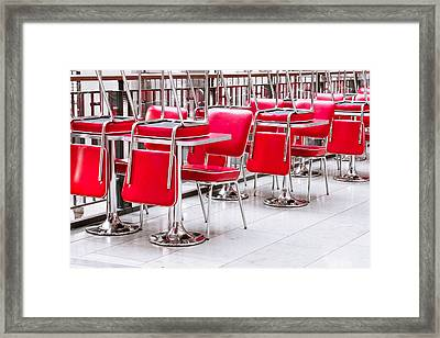 Chairs And Tables Framed Print by Tom Gowanlock