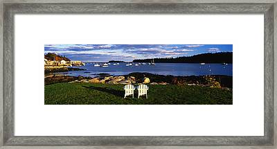 Chairs Lobster Village Me Framed Print by Panoramic Images