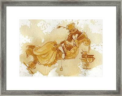 Chaise Framed Print by Brian Kesinger