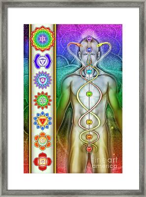 Chakra System Framed Print by Dirk Czarnota
