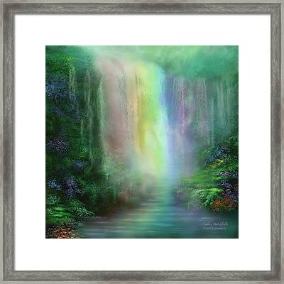 Chakra Waterfalls Framed Print by Carol Cavalaris