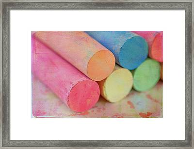 Chalk Framed Print by June Marie Sobrito