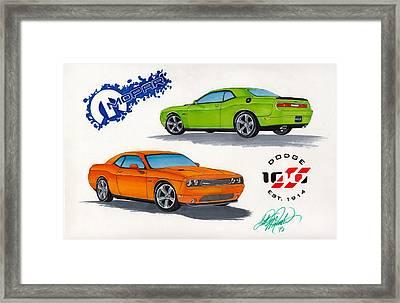 Challenger Framed Print by Scott McIntire