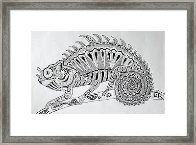Chameleon Framed Print by Deimante Kajataite
