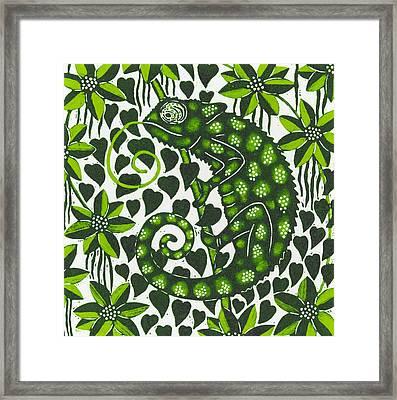 Chameleon Framed Print by Nat Morley