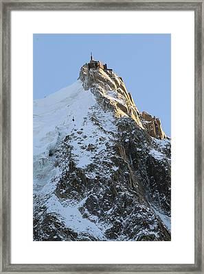 Chamonix - Aiguille Du Midi Framed Print by Pat Speirs
