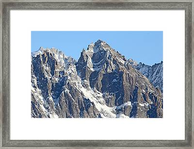 Chamonix- Mountaineers Paradise Framed Print by Pat Speirs