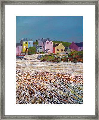Champagne Cascade Framed Print by Eamon Doyle