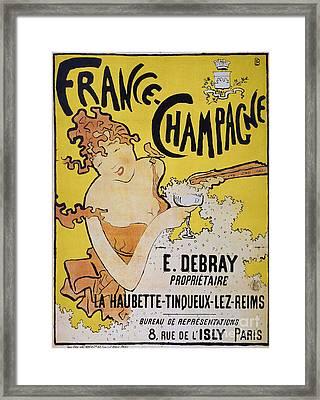 Champagne Poster, 1891 Framed Print by Granger