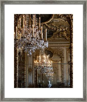 Chandelier At Versailles Framed Print by Georgia Fowler