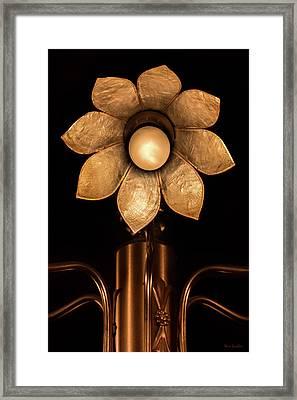 Chandelier Flower Framed Print by Wim Lanclus
