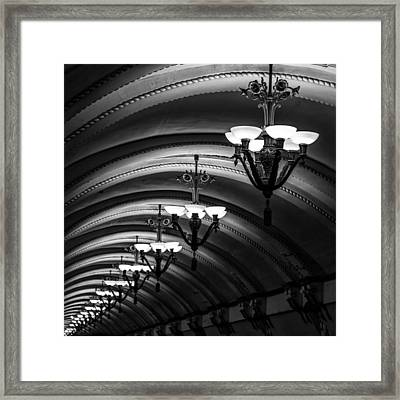 Chandeliers Framed Print by Stelios Kleanthous