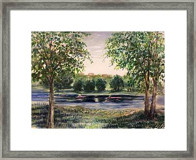 Channel At The Lake Of Isle - Minneapolis  Framed Print by Laila Awad Jamaleldin