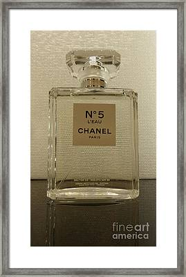 Chanel No 5 L'eau 2 Framed Print by To-Tam Gerwe