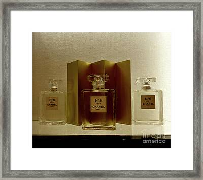 Chanel No 5 L'eau 4 Framed Print by To-Tam Gerwe