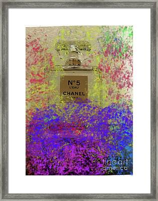 Chanel No 5 L'eau  Framed Print by To-Tam Gerwe
