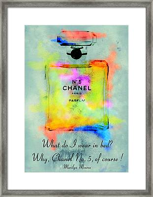 Chanel No.5  Framed Print by Diana Van