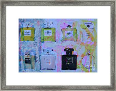 Chanel Perfume Framed Print by To-Tam Gerwe