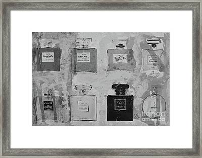 Chanel Perfumes B/w Framed Print by To-Tam Gerwe