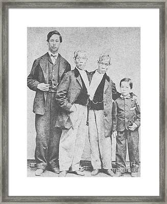 Chang And Eng, Original Siamese Twins Framed Print by Photo Researchers