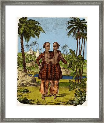 Chang And Eng, Siamese Twins Framed Print by Science Source