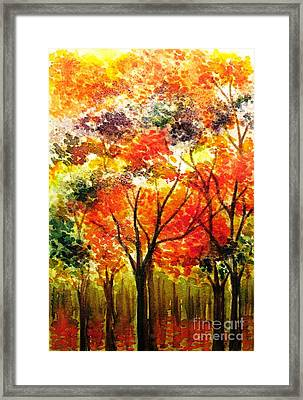 Changing Colors Of The Season Framed Print by Hazel Holland