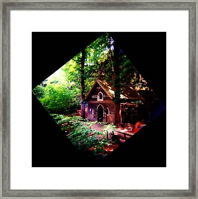 Chapel In The Woods Framed Print by Kevin Smith
