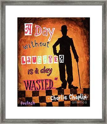 Chaplin Framed Print by Igor Postash
