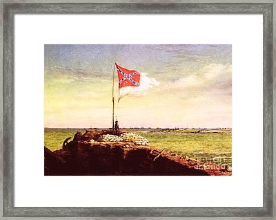 Chapman Fort Sumter Flag Framed Print by Granger