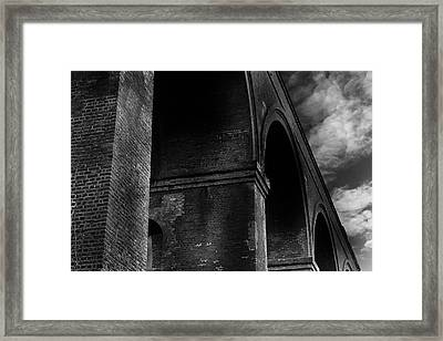 Chappel Viaduct Framed Print by Martin Newman