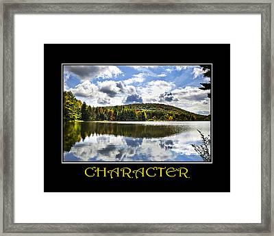 Character Inspirational Motivational Poster Art Framed Print by Christina Rollo