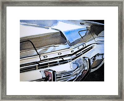 Charcoal Chrome And Blue Framed Print by Spencer Meagher